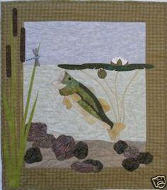 Cute quilt pattern. Like the rocks, water...