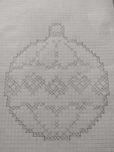 Fair Isle Knitting Patterns, Crochet Square Patterns, Beading Patterns Free, Crochet Christmas Decorations, Christmas Crochet Patterns, Christmas Embroidery, Cross Stitch Love, Cross Stitch Designs, Cross Stitch Patterns