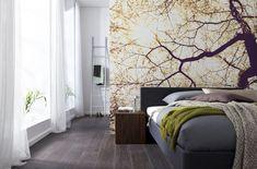 Fotobehang Komar Munich - Sunshine  | Een spel van licht op de muur! Laat de ochtendzon van fotobehang Komar Sunshine in uw slaapkamer schijnen en creëer een harmonieus geheel!