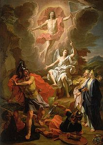 Biblical Painting - The Resurrection Of Christ by Noel Coypel