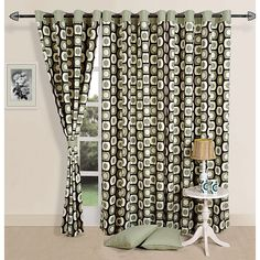 SWAYAM OLIVE FRAME PRINTED CURTAINS-1901 - Embellish your window and door frames with these strikingly chic printed curtains, giving them an alluring look. They are quite effective in restricting the sharp sun rays from reaching you, toning down its intensity. Refurbish your personal space and enjoy the light moments under their faint shadow. Aesthetic Sense, Printed Curtains, Windows And Doors, Door Frames, Framed Prints, Sun Rays, Personal Space, Color, Chic
