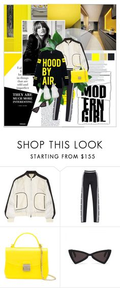 """Wake Up Stronger"" by fashionaviour ❤ liked on Polyvore featuring Nicole Miller, Reed Krakoff, Furla, Hood by Air and Golden Goose"