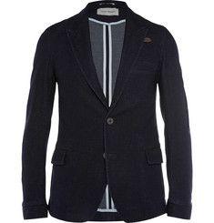 Oliver SpencerNavy Portland Cotton-Blend Jacquard Blazer