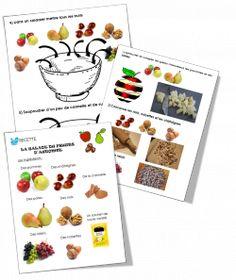 Salade de fruits d'automne. Recette illustrée.