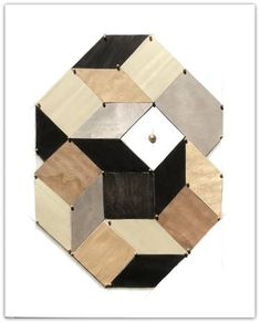 """Saatchi Art Artist karen clark; Collage, """"Cubed"""" #art"""
