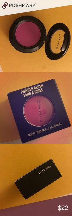 powder blush / eyeshadow MAC cosmetics Brand new MAC cosmetics mini powder blush / eye shadow. Mac cosmetics launched mini powder blushes that are fitted in the eye shadow units as a new product launch. Beautiful matte bright purple shade. Extremely pigmented. Only available online and mac cosmetic stores MAC Cosmetics Makeup Blush
