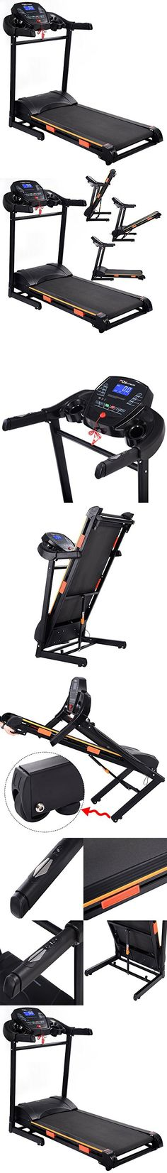 Gracelvoe Portable Folding Electric Motorized Commercial-Grade Home Treadmill Running Machine