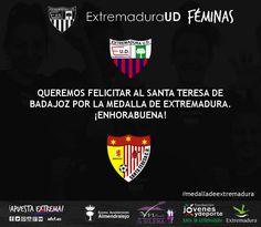 Desde la directiva, jugadoras, cuerpo técnico y afición, damos la enhorabuena al Santa Teresa de Badajoz por la #MedallasDeExtremadura #sencillamenteextremadura