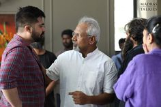 Here are the stills of Mani Ratnam with Simbu and Arun Vijay during the shooting of Chekka Chivantha Vaanam. Arun Vijay, Mani Ratnam, Tamil Movies, Be Still, Behind The Scenes, Cinema, Hollywood, Couple Photos, Film