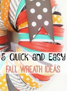 5 Quick and Easy Fall Wreath Ideas