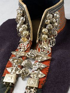 Sami silver Collar from Senja in Troms, Norway. Photo by Nordiska Museet.