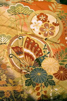 Japanese Kimono fabric. Photo: Kimono pattern 1. by gak on Flickr.