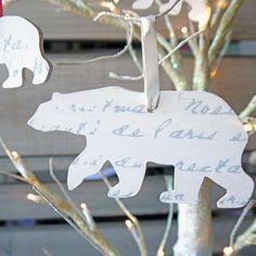 Wooden Polar Bear Decorations - tree decorations
