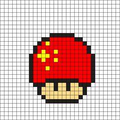China Mushroom Perler Bead Pattern