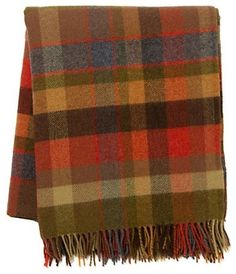 Avoca Plaid Throw - $168.00 »  Keep a few cozy throws on hand for guests to snuggle up by the fire between dinner and dessert. This season I'm loving wool and flannel plaids.