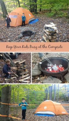 With Kids: Keeping Kids Busy at Your Campsite Planning a family camping trip with kids? You'll need these tips to keep them busy at the campsite.Planning a family camping trip with kids? You'll need these tips to keep them busy at the campsite. Camping And Hiking, Camping Hacks, Camping Diy, Solo Camping, Camping Supplies, Camping Checklist, Camping Essentials, Family Camping, Camping Ideas