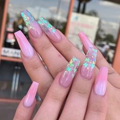 nails♡ uploaded by Jewlz💎 - nails♡ uploaded by Jewlz💎 Image shared by Jewlz💎. Find images and videos about pink, nails and butterflies on We Heart It – the app to get lost in what you love. Acrylic Nails Coffin Short, Summer Acrylic Nails, Best Acrylic Nails, Coffin Nails, Summer Nails, Winter Nails, Cute Acrylic Nail Designs, Nail Art Designs, Nails Design