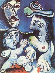 Pablo Picasso - 1970 Homme, femme et enfant | by iPad Mimi