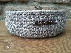 Crochet basket Crochet storage basket crochet bowl  by Lulaor