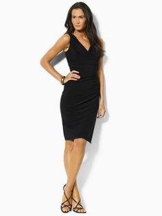 Ruched Jersey Empire Dress - Short Dresses  Dresses - RalphLauren.com
