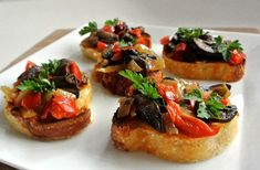 Mushroom Bruschetta is a fantastic mixture that is sublime on it's own or as a side dish.