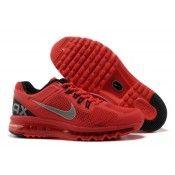 Nike Air Max 2013 Mens Running Shoe Varsity Red/Silver