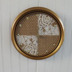 A personal favorite from my Etsy shop https://www.etsy.com/listing/229726505/printed-burlap-clock