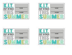 K.I.T. cards CUTE!