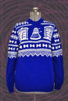 "Just this sweater for ugly sweater Xmas parties! 21 Pieces Of ""Doctor Who"" Swag You Didn't Know You Needed"