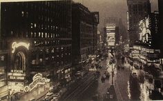 TIMES SQAURE 1938 Postcard LOOKING NORTH Vintage NEW YORK CITY