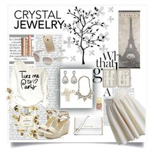 """Crystal Jewelry"" by prettylittlemaddy ❤ liked on Polyvore featuring Umbra, Chicwish, Kenneth Jay Lane, Wedding Belles New York, MICHAEL Michael Kors, Dot & Bo, John Lewis, Oliver Peoples, Rifle Paper Co and Charlotte Tilbury"