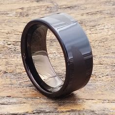 Trojan Black Tungsten Carbide Ring with Laser Engraved Design, 10mm Width. Black Tungsten Ring features a lustrous tungsten polish with Engraved design. Tungsten Engagement Rings, Tungsten Carbide Wedding Bands, Shop Engagement Rings, Delicate Rings, Unique Rings, Promise Rings For Guys, Wedding Band Engraving, Black Tungsten Rings, Diamond Cluster Engagement Ring