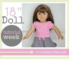American Girl Doll Tutorial Week UCreate