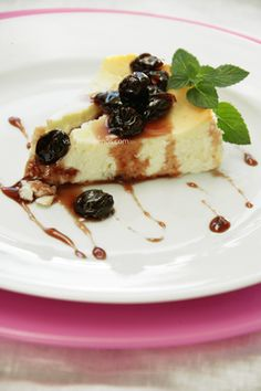 Greek Yogurt Cheese Cake with Mastiha | Greek Food - Greek Cooking - Greek Recipes by Diane Kochilas