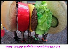 Funny Halloween Costume: A Burger.... View the best Funny Costume Photos, Funny Costume Images. Check out the hilarious updates of pics every day.