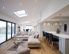 10 open plan kitchen living room 2 « A Virtual Zone Open Plan Kitchen Dining Living, Living Room And Kitchen Design, Open Plan Kitchen Diner, Kitchen Diner Extension, Kitchen Family Rooms, Home And Living, Living Room Designs, Living Spaces, Open Plan Living