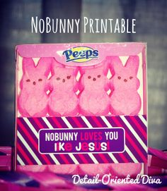 Peeps easter printable i love this it did take me forever to christ centered easter basket nobunny loves you like jesus free printable negle Gallery