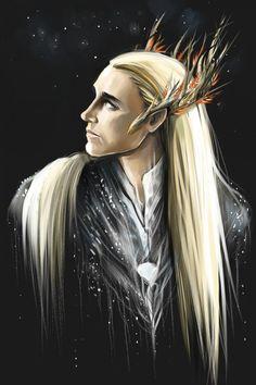 Thranduil by AndreevaPolina on DeviantArt Tolkien Hobbit, Hobbit Art, Lotr, The Hobbit, Mirkwood Elves, Legolas And Thranduil, Into The West, King Of My Heart, Great Stories