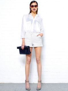 Issue White Tailored Shorts