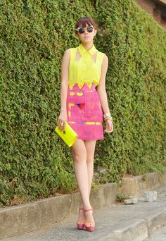 Page 3 : pastels colors is the most beautiful secret  for teenagers and young ladies also !!! Just match the accessories with colors !! Sooo go to mall and take 2 outfits only !!! One with yellow and pink (like the picture ) and one with green and purple (or others pastels light colors that Match ) !!!!!