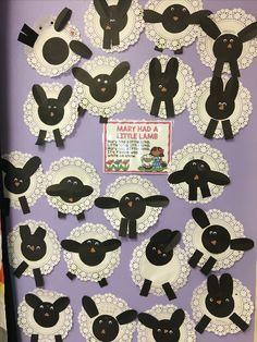 Mary had a little lamb fairy tale children's craft activity bulletin board preschool Rhyming Preschool, Rhyming Activities, Preschool Crafts, Toddler Activities, Toddler Themes, Preschool Themes, Nursery Rhyme Crafts, Nursery Rhymes Preschool, Nursery Rhyme Theme