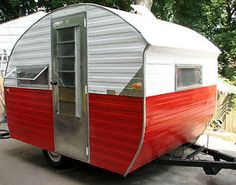 vintage travel trailers | RARE Vintage Little Gem Bugg Travel Trailer camper Frame Up Rebuiled ...