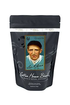 New York Giants  Leon Ames  Baseball Card 8oz Whole Bean Small Batch Artisan Coffee  Bold  Strong Medium Dark Roast w Artwork ** Find out more about the great product at the image link. (This is an affiliate link and I receive a commission for the sales)