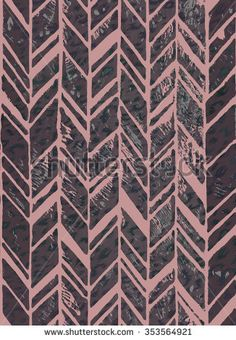 seamless zigzag pattern with animal spots texture. a swimwear or interior print with beautiful hand mad stamping effect. allover zigzag pattern in muted colors