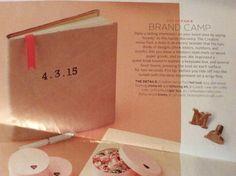 Branded memory book- martha Stewart weddings fall 2014