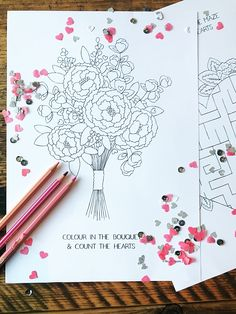 Free Download Printable Kids Children Colouring Sheets Games Activities Bea & Bloom UK Wedding Freebie