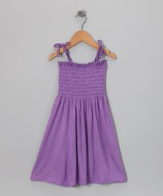 Take a look at this Purple Smocked Dress - Girls by Happy Kids for Kids on #zulily today!
