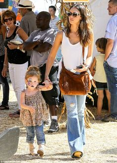 Jessica Alba and Haven (3) - At the Mr. Bones Pumpkin Patch in Beverly Hills.  (October 2014)