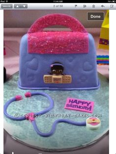 Coolest Doc McStuffins Doctor Bag Cake... This website is the Pinterest of birthday cake ideas