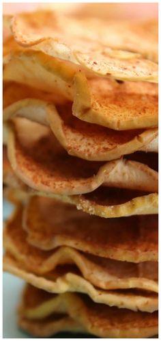 Baked Cinnamon & Sugar Apple Slices ~ Crispy baked apples slices coated in cinnamon and sugar like a fruit chew but better!